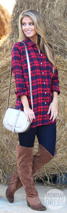 The Baelyn Flannel Tunic | Monday Dress Boutique