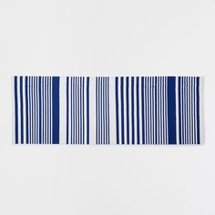 Image 1 of the product Blue striped cotton rug