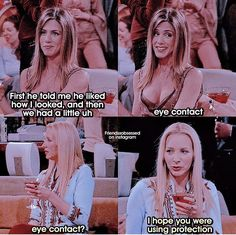When it gets wild. Friends Funny Moments, Friends Scenes, Friends Cast, Friends Episodes, Friends Tv Show, Friends Series Quotes, Funny Friend Memes, Movies And Series, Tv Show Quotes