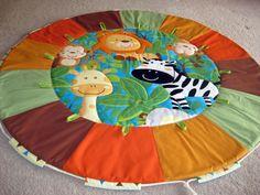 Animales de la selva multicolor acolchado bebé por MKcollectionMK