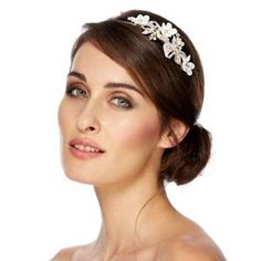 Alan Hannah Devoted Designer silk flower freshwater pearl headband- at Debenhams Mobile