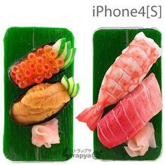 [SoftBank/au iPhone 4S/4専用]へい!お待ちっ。食品サンプル 愛飯iFanお寿司カバー