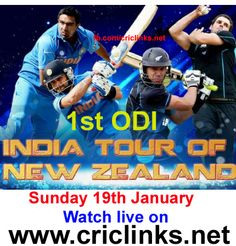 Sunday 19th,January 1st ODI of 5 match seris between India vs Newzland will be played at Napier..1st Game of the Tour alwayes good to win .so both the Teams will keen to start on high.Match will be start 6.00 AM PST,6.30AM IST.Watch live action only on http://www.criclinks.net/ #Indiavsnezland