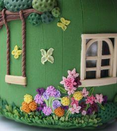 домик из полимерной глины