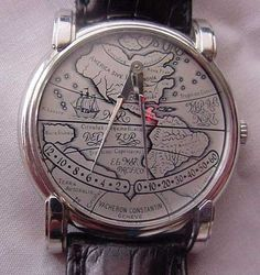 "Platinum Vacheron Constantin ""Mercator"" Double Retrograde Jump Hour Strapwatch. $45,000"