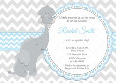 21 ideas baby shower invitations free grey chevron for 2019 Baby Shower Invitations For Boys, Baby Shower Favors, Baby Shower Themes, Baby Shower Decorations, Baby Boy Shower, Baby Shower Gifts, Shower Ideas, Elephant Theme, Elephant Baby Showers