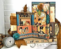 Graphic 45 Vintage Hollywood Four Fold Folio Tutorial by Kathy Clement for Frilly and Funkie Photo 4