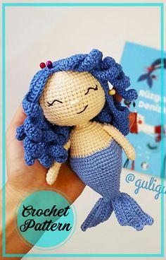 One Skein Crochet, Crochet Dolls, Free Crochet, Amigurumi Doll, Amigurumi Patterns, Knitting Patterns, Crochet Mermaid, Christmas Crochet Patterns, Free Pattern