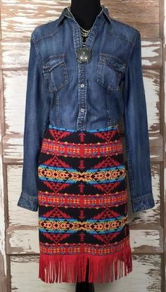 da61268191d4 Western Chic, Cowgirl Chic, Cowgirl Style, Cowgirl Boots, Cowgirl Fashion,  Western Wear, Short Girl Fashion, Gypsy Skirt, Fringe Skirt