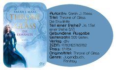 """Sarah J. Maas """"Throne of Glass –Erwählt"""" ist ein durchaus gelungener Auftakt einer Trilogie. Die Idee hinter der Geschichte konnte mich sofort begeistern, auch wenn ich mit dem Charakter unserer Protagonistin Celaena einige kleine Schwierigkeiten hatte. Auch die Dreiecksgeschichte, die sich im Laufe entwickelt hat meinen Lesespaß ein wenig gemindert. Doch die wunderbar beschriebene Welt von Adarlan bzw. das ganze Reich Erilea ließ mich darüber hinweg sehen."""