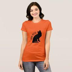 Halloween Black Cat Good Witch Women's T-Shirt - cat cats kitten kitty pet love pussy