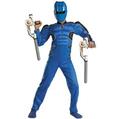 Power Rangers Jungle Fury Blue Ranger Muscle Child Costume$24.99  sc 1 st  Pinterest : power rangers ninja storm costume  - Germanpascual.Com