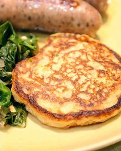 St. Patrick's Day Recipes: Traditional Irish potato pancakes, also known as boxty, are made with a mixture of mashed and grated potatoes for a texture that's part pancake, part hash brown. Serve with Irish Bangers and Sauteed Swiss Chard for a complete St. Patrick's Day meal. Click through to get the recipe.