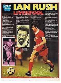 Super Focus with Ian Rush of Liverpool with Shoot! magazine in Football Icon, Uk Football, Retro Football, World Football, Liverpool Football Club, Football Players, Ian Rush, Chester City, Liverpool Anfield