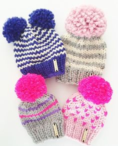 Giant Pom Pom beanie, double Pom Pom hats, cute knitted hats, toddler beanie, baby hat, knitwear, winter, fall, baby shower gift, handmade