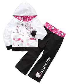 Hello Kitty Kids Pants, Little Girls Pants - Kids - Macy's Kids Outfits Girls, Toddler Girl Outfits, Toddler Shoes, Little Girl Fashion, Kids Fashion, Hello Kitty Nursery, Hello Kitty Merchandise, Hello Kitty Clothes, Toddler Girl Style