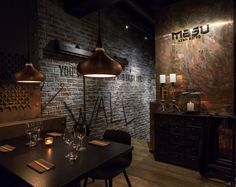 View the full picture gallery of MASU Asian Bistro Bistro Interior, Industrial Interior Design, Restaurant Interior Design, Industrial Interiors, Interior Shop, Industrial Restaurant, Restaurant Bar, Asian Bistro, Cafe Pictures