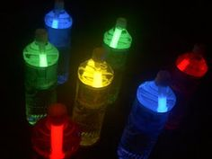 night bowling - SO cool! just water bottles and glow sticks and the kids will love it!