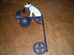 """Cast Iron Dinner Bell - Vintage RCA Victor Phonograph Dog, """"Nipper"""" - Wall Mount #RCAVictor"""