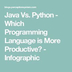 Java Vs. Python - Which Programming Language is More Productive? - Infographic