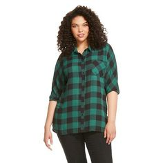 d5ebe7397d9 Women s Plus Size Plaid Tunic - Ava  amp  Viv Plaid Tunic