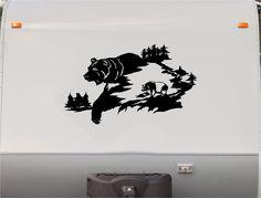 Bear Mountains RV Camper 5th Wheel Motorhome Vinyl Decal Sticker Graphic Custom Text Mural