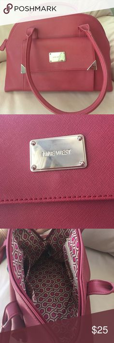 Red Nine West Handbag(Liked New! Used once only) Like New! Used onced only.No Scratches,stains or damage.Very clean! Nine West Bags Shoulder Bags