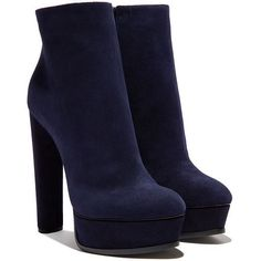Casadei Platforms (€805) ❤ liked on Polyvore featuring shoes, boots, ankle booties, ankle boots, heels, casadei, suede boots, platform heel booties, suede ankle booties and platform heel boots