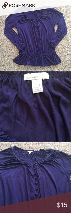 Old Navy deep purple Large Womens Button Detail Great condition! Ships fast! Smoke free home! Old Navy Tops Blouses