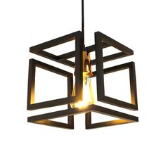 Black Infinity Hunter Trade Pendant with Copper Finish for 1 Bivolt Lamp,