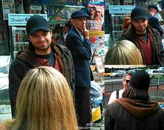 Sebastian Stan Spotted In Familiar 'Bucky' Civvies On CAPTAIN AMERICA: CIVIL WAR Set In Berlin - He's wearing color, people! Things are looking up!