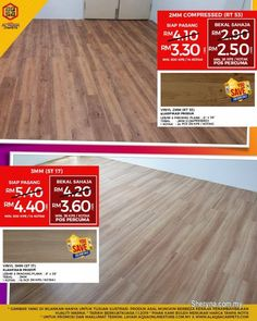 Other for sale, RM3 in Klang, Selangor, Malaysia. Wood Vinyl Flooring - Luxurious Look Flooring Just From RM2. 50/sqft    The most recommended floori