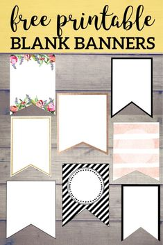 Diy Birthday Banner Template Free - Free Printable Banner Templates Blank Banners Free Printable Free Printable Birthday Banners Free Printable Birthday Banner Ideas Paper Trail Design F. Blank Banner, Free Banner, Diy Banner, Free Printable Banner Letters, Bunting Template, Birthday Banner Template, Birthday Banner Ideas, Happy Birthday Banner Printable, Event Template