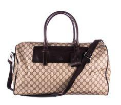 c1500a0c9427 (eBay Ad) GUCCI Brown GG Supreme Monogram Canvas Duffel Travel Bag.  Monogram CanvasLouis Vuitton DamierTravel ...