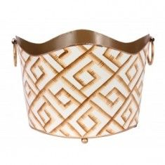 Cream and Gold Bamboo Classic Magazine Holder The Well Appointed Home $85.