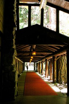 Hotel Entrance at The Ahwahnee in Yosemite Valley