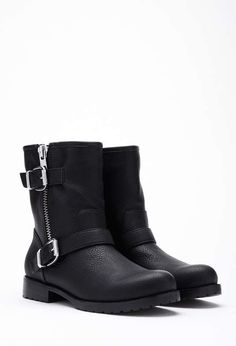 Forever 21   Faux Leather Moto Booties #forever21 #fauxleather #booties