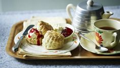 I love large scones with clotted cream and jam. But for a tea time with a selection of cakes and sandwiches I prefer smaller scones which are daintier to eat.   Equipment and preparation: you will need two lightly-greased baking trays and a 4cm/1½in round pastry cutter.