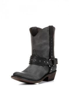 Women's Britt Boot - Aged Black Short Cowgirl Boot