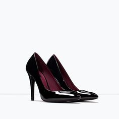 ZARA - TRF - FAUX PATENT LEATHER HIGH HEEL COURT SHOE