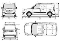 Szkic techniczny Opel Combo D Van L1