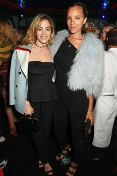 Fashion month parties continue in London with the best A-listers. Chelsea Leyland and Pheobe Collings-James at Mui Mui London Fashion Week Party.