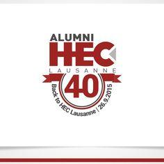 Alumni HEC Lausanne �20Créer un logo pour l'anniversaire des 40 ans d'une association de diplômés