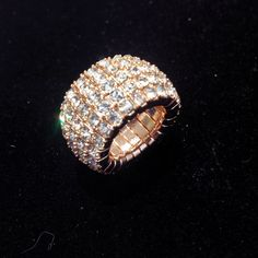 we sell rings too!! this piece is rose gold coloured, its stunning on and sparkles like crazy! what more could you want??