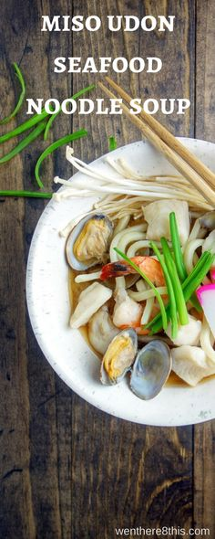 This Miso Udon Seafood Noodle Soup is a great way to start the New Year with amazing umami flavor, fresh seafood and a light, delicious broth!    miso soup   udon noodle soup   japanese soup recipes   japanese recipes   noodle soup recipes   seafood stew   ramen noodles   soba noodles   easy udon noodle soup   japanese noodle soup   winter soup recipes   easy soup recipes via @Went Here 8 This