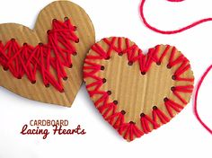 Now is the time for all kinds of heart crafts in celebration of Valentine's Day. As someone who used to not be so fond of the holiday, I now have a completely different outlook after seeing how much my kids have fun with it. And these Cardboard Lacing Hearts are a great craft to get …