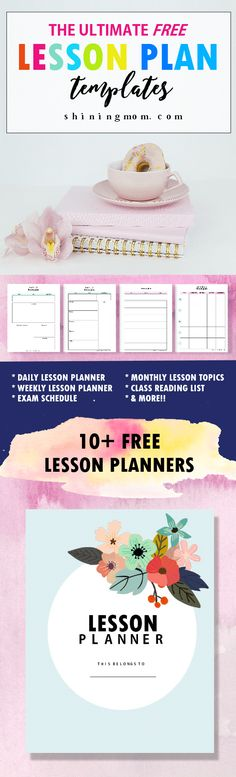 Printable Lesson Plan Template in PDF format Dream Library - lesson plan