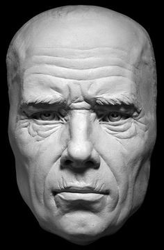 Mature Human Face Aging Process Sculpting Reference
