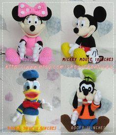 Mickey Mouse y su pandilla - patrón de ganchillo amigurumi PDF