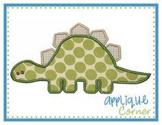 054 Dinosaur Baby applique design digital for embroidery